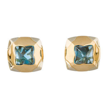 Bvlgari Topaz Pyramide Earrings