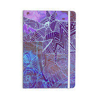 """Marianna Tankelevich """"Abstract With Wolf"""" Purple Illustration Everything Notebook"""