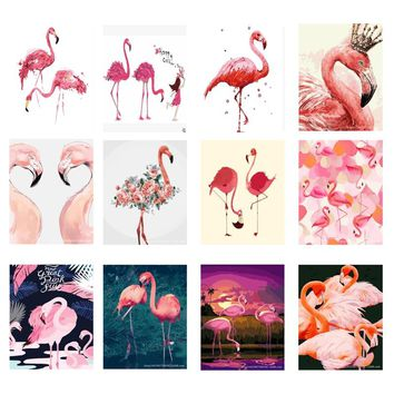 HOME BEAUTY oil painting by number hand-painted on canvas acrylic paint for drawing Flamingo modular picture home decor wall art