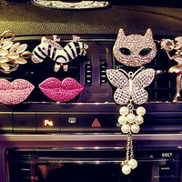 Car Accessories For Woman Gifts Glitter Fragrance car Vent Air Freshener outlet Perfume Diffuser
