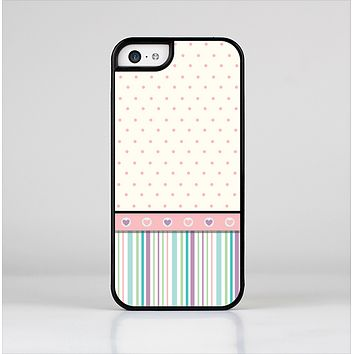 The Polka Dots with Green and Purple Stripes Skin-Sert for the Apple iPhone 5c Skin-Sert Case