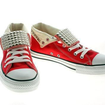 studded converse silver pyramid studs with converse by customduo