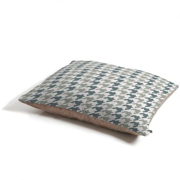 Allyson Johnson Classy Blue Houndstooth Pet Bed