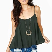 Wild And Free Tank - Olive