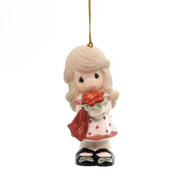 Precious Moments Wishing You A Beautiful. Porcelain Ornament