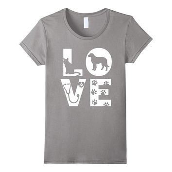 Vet Tech Love Animals Veterinarian Technician T-Shirt