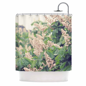 """Sylvia Coomes """"Breath Of Fresh Air"""" Pink Floral Shower Curtain"""