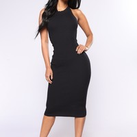 Alysson Knit Dress - Black
