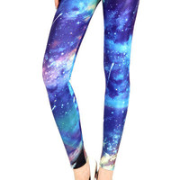 GALAXY-PRINT LEGGINGS (Northern Lights)