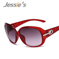 Women's Elegant Sunglasses Fashion Gradient Sunglass Metal Crystal Decoration Sun Glasses For Women Sun Eyewear Brand Designer