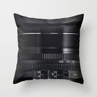 Camera Lens Throw Pillow by Nicklas Gustafsson