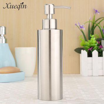 Xueqin 350ML Stainless Steel Kitchen Bathroom Hand Pump Liquid Soap Dispenser Lotion Detergent Bottle Bathroom Hardware