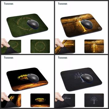 Yuzuoan New Direct Selling Large Gaming Mouse Pad The Lord of the Rings Custom Rectangle Non-Slip Rubber Gaming Mousepad