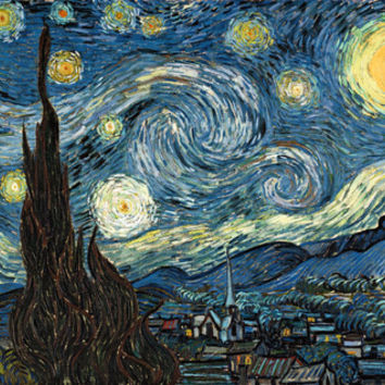 Starry Night by Vincent van Gogh. Famous impressionism landscape oil painting. Stretched Canvas by NatureMatters | Society6