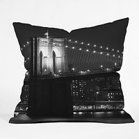 Leonidas Oxby Brooklyn Bridge 125 Throw Pillow