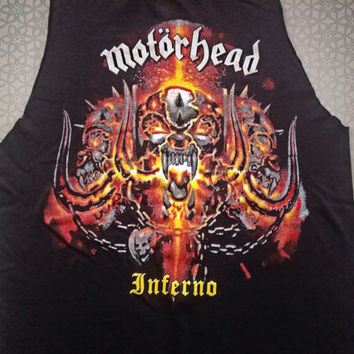 Motörhead  // band shirt // cut // raw edge//concert t shirt// heavy metal//rocker // tank