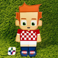 Croatia football soccer craft activity. Printable paper toy. Instant download. Make you own cards, banners and football soccer bunting!