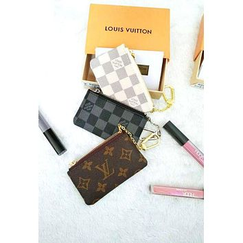 DCCKJL0 Louis Vuitton Monogram Canvas Key Pouch