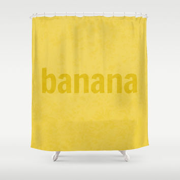 Banana Shower Curtain by RBWPictures