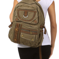 Canvas Lightweight Multi-compartment Utility Backpack