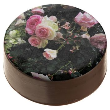 Spray of Pink Roses Chocolate Covered Oreo