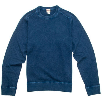 Massimo Alba Blue Dyed Cashmere Sweater