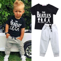 Summer Baby Set Boy Kids Clothes Outfit Casual Tshirt Pants