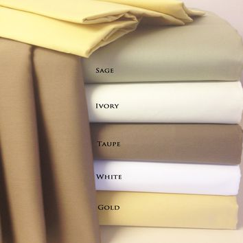 Queen IVORY 22 Inch Super Deep Pocket 600TC Combed cotton sheets