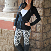 DECADENCE DAMASK LEGGINGS