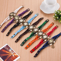 Hot Sale Leather Metal Watch Women's Fashion Accessory Easy To Read Good Gifts = 1706189380