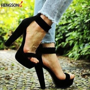 2018 New Sexy Women Pumps Fashion Sandals Party Shoes High Heel 16 cm Peep Toe Sandals Braided Foot Ring Ankle Strap Sandals