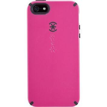 Speck - CandyShell Case for Apple® iPhone® 5 - Raspberry Pink/Black