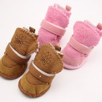 Warm Winter Cozy Pet Dog Boots Puppy Shoes 2 Colors For Dog SIZE #1-5 [8362261127]