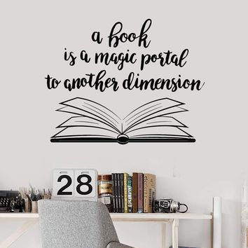 Book Quote Vinyl Wall Decal Reading Room Book Shop Art Decor Stickers Mural (ig5297)