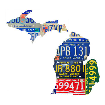 Michigan License Plate wall decal