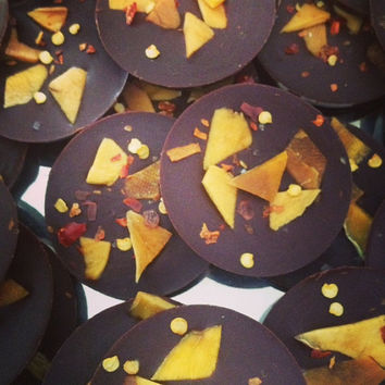 Raw Chocolate  - Mango and Chilli, Florentines 100g