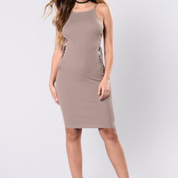 Come Out To Play Dress - Light Mocha