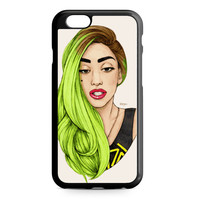 Lady Gaga Green Hair Art iPhone 6 Case