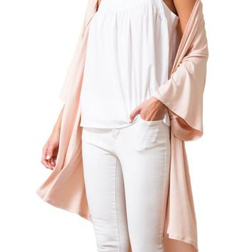 Premium Knit High-Low Kimono Cardigan