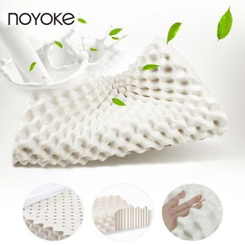 LMF9GW NOYOKE 59*34*11 Thailand Original Imported Natural Latex Cervical Protection Pillow Breathable Massage Therapy Latex Bed Pillow