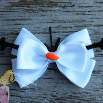 Olaf hair bow Frozen hair bow
