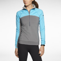 Nike Pro Hyperwarm Fitted Max Shield Half-Zip Women's Training Top - Carbon Heather