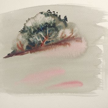 Shadow Forest Watercolor Painting
