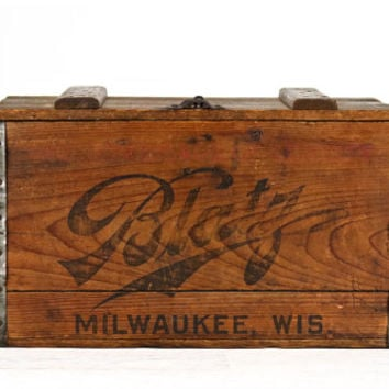 Vintage Blatz Beer Wood Crate 1927, Blatz Beer Wooden Crate, Blatz Beer Wood Box, Old Beer Crate, Industrial Decor, Man Cave Decor