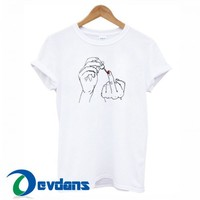Middle Finger T Shirt Women And Men Size S To 3XL