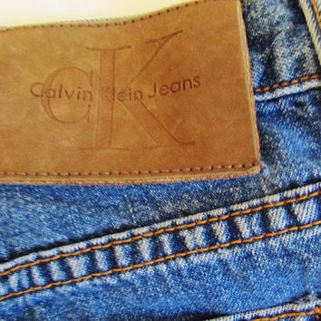 Women's Vintage 90's Calvin Klein High Waisted Easy Fit Jeans Sz 5 32