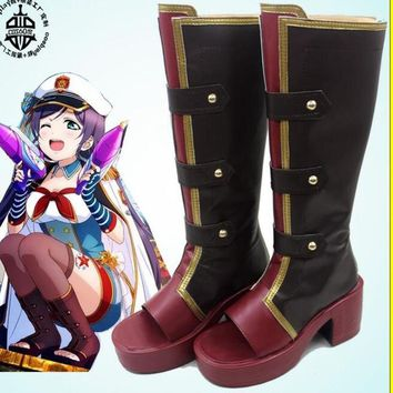 nozomi tojo lovelive love live  Cosplay Costume lolita girls punk cosplay pro boots shoes