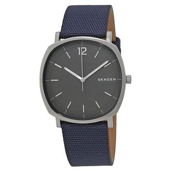 Skagen Rungsted Grey Dial Mens Nylon Watch SKW6378