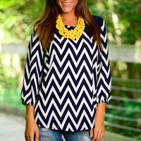 Forget Me Not Tunic, Navy
