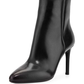 Vitello Back-Zip Ankle Boot, Black (Nero) - Prada
